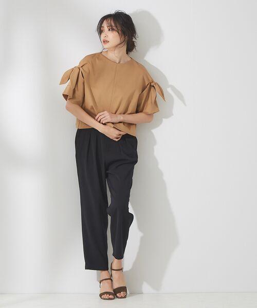 qualite / カリテ Tシャツ | リボン切り替え2WAYカットソー【予約】 | 詳細6
