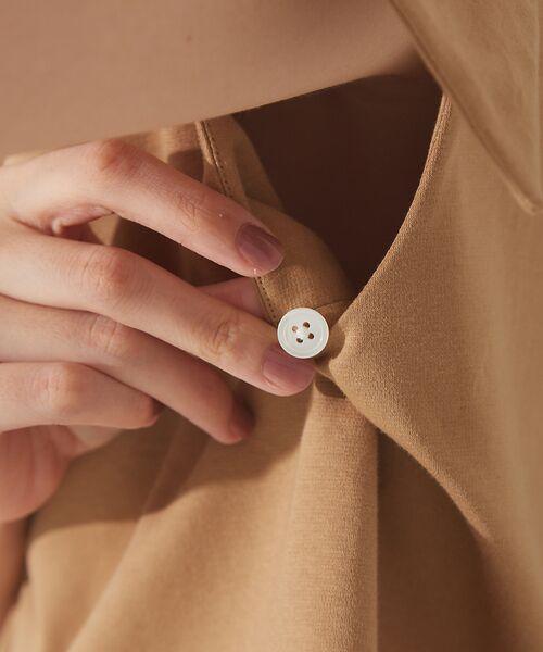 qualite / カリテ Tシャツ | リボン切り替え2WAYカットソー【予約】 | 詳細15