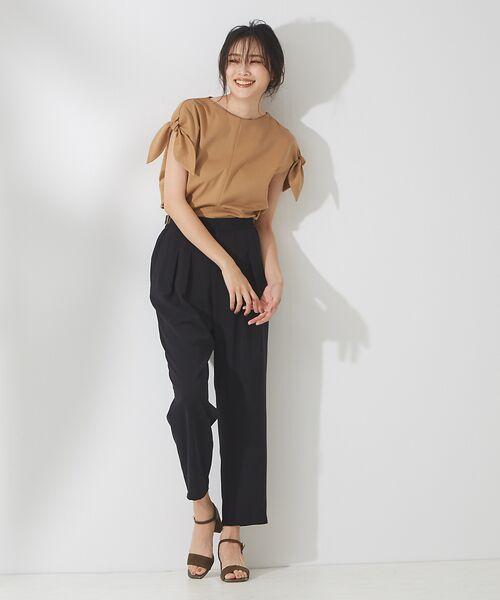 qualite / カリテ Tシャツ | リボン切り替え2WAYカットソー【予約】 | 詳細20