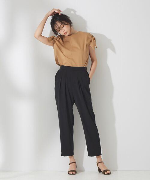 qualite / カリテ Tシャツ | リボン切り替え2WAYカットソー【予約】 | 詳細21