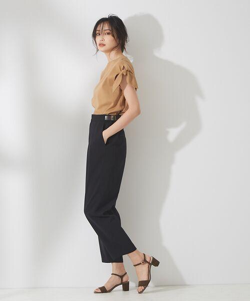 qualite / カリテ Tシャツ | リボン切り替え2WAYカットソー【予約】 | 詳細22