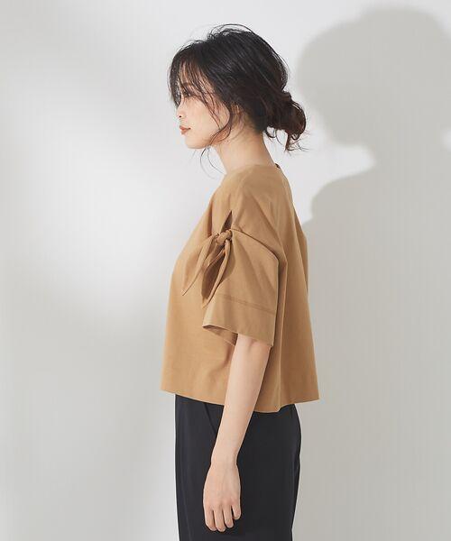 qualite / カリテ Tシャツ | リボン切り替え2WAYカットソー【予約】 | 詳細7