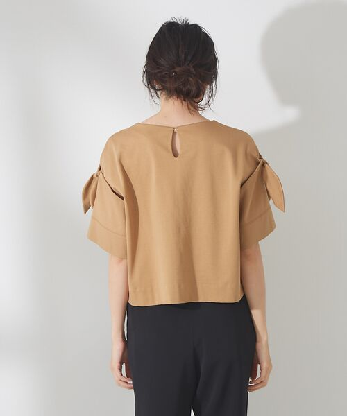 qualite / カリテ Tシャツ | リボン切り替え2WAYカットソー【予約】 | 詳細8