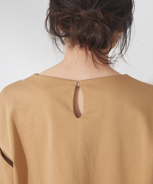 qualite / カリテ Tシャツ | リボン切り替え2WAYカットソー【予約】 | 詳細9