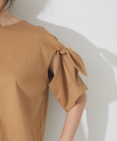 qualite / カリテ Tシャツ | リボン切り替え2WAYカットソー【予約】 | 詳細11