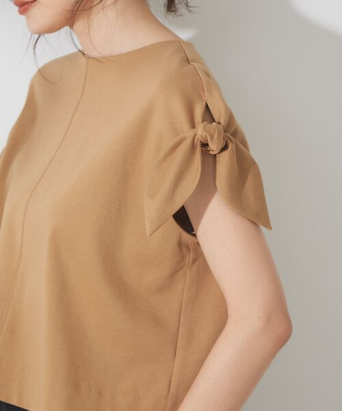 qualite / カリテ Tシャツ | リボン切り替え2WAYカットソー【予約】 | 詳細14