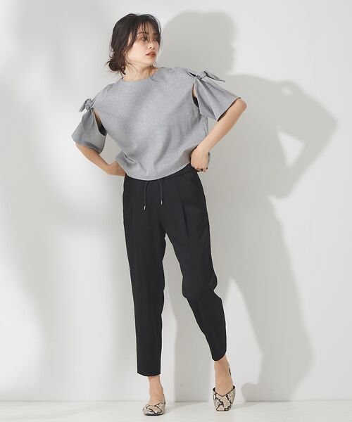 qualite / カリテ Tシャツ | リボン切り替え2WAYカットソー【予約】 | 詳細24