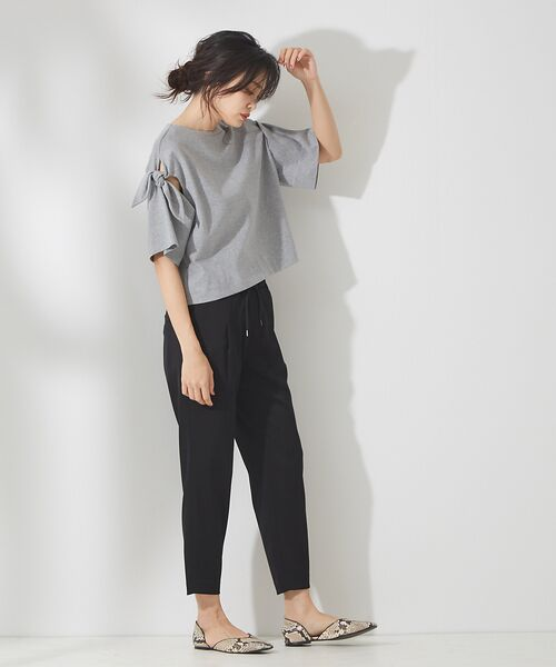 qualite / カリテ Tシャツ | リボン切り替え2WAYカットソー【予約】 | 詳細25