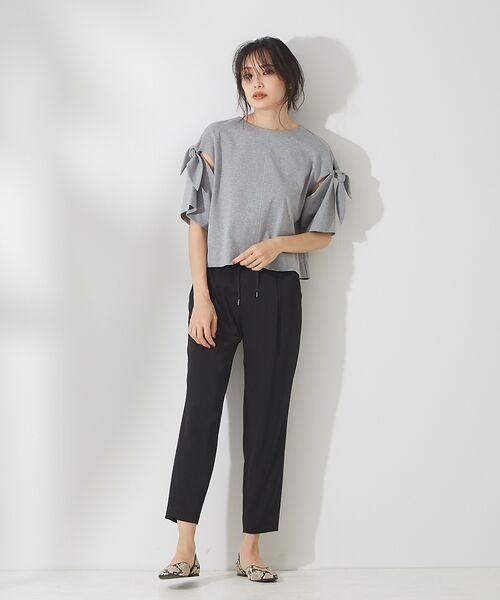 qualite / カリテ Tシャツ | リボン切り替え2WAYカットソー【予約】 | 詳細26