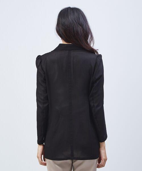 qualite / カリテ テーラードジャケット | オーガンジーシャツジャケット | 詳細3