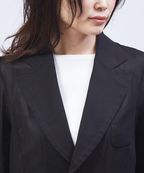 qualite / カリテ テーラードジャケット | オーガンジーシャツジャケット | 詳細4