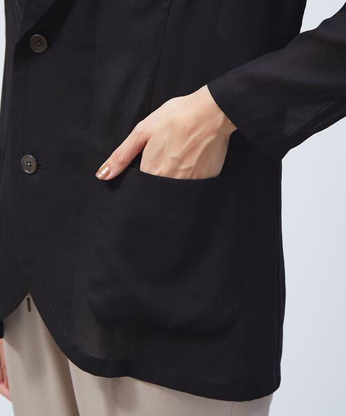 qualite / カリテ テーラードジャケット | オーガンジーシャツジャケット | 詳細6