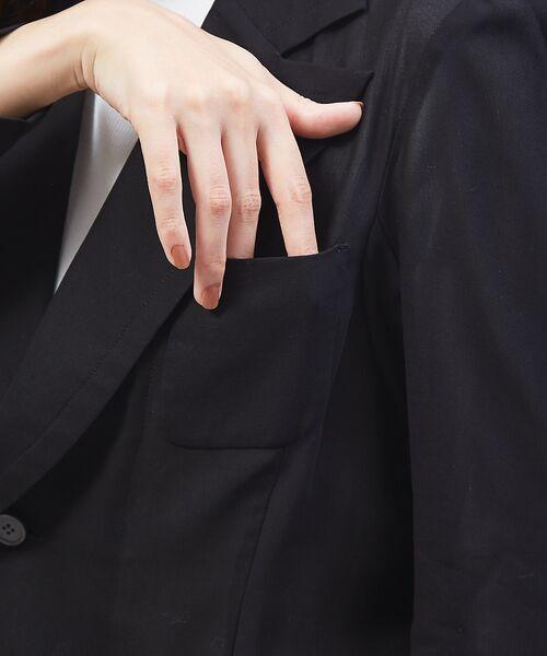 qualite / カリテ テーラードジャケット | オーガンジーシャツジャケット | 詳細7