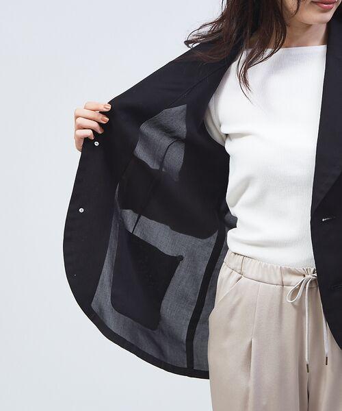 qualite / カリテ テーラードジャケット | オーガンジーシャツジャケット | 詳細9