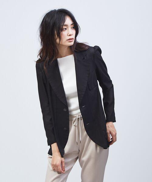qualite / カリテ テーラードジャケット | オーガンジーシャツジャケット(ブラック)