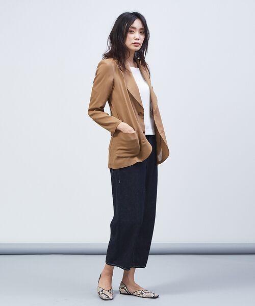 qualite / カリテ テーラードジャケット | オーガンジーシャツジャケット | 詳細15