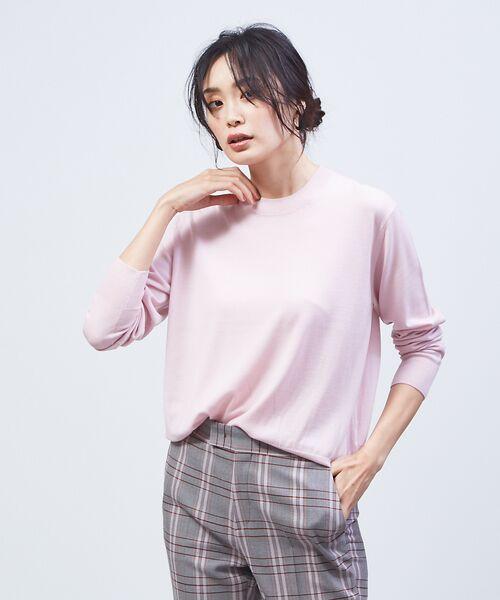 qualite / カリテ ニット・セーター | 【定番アイテム】【アンサンブルOK】ハイゲーシネックニット(ピンク)