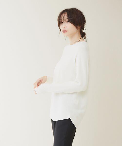 qualite / カリテ ニット・セーター | ウールロングニット【予約】(オフホワイト)