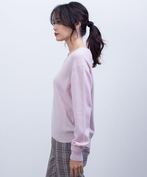 qualite / カリテ ニット・セーター | カシミヤVネックニットプルオーバー | 詳細4