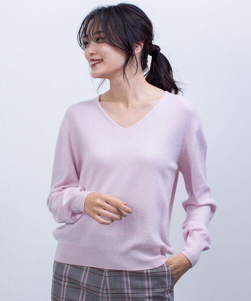 qualite / カリテ ニット・セーター | カシミヤVネックニットプルオーバー(ピンク)