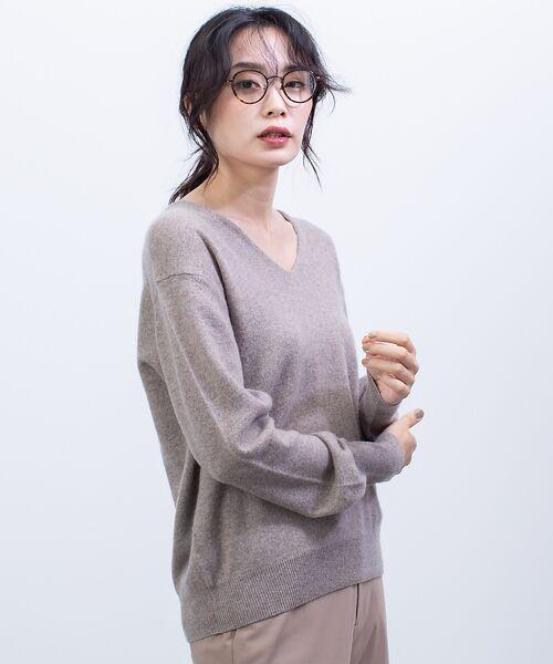 qualite / カリテ ニット・セーター | カシミヤVネックニットプルオーバー(アンバー)