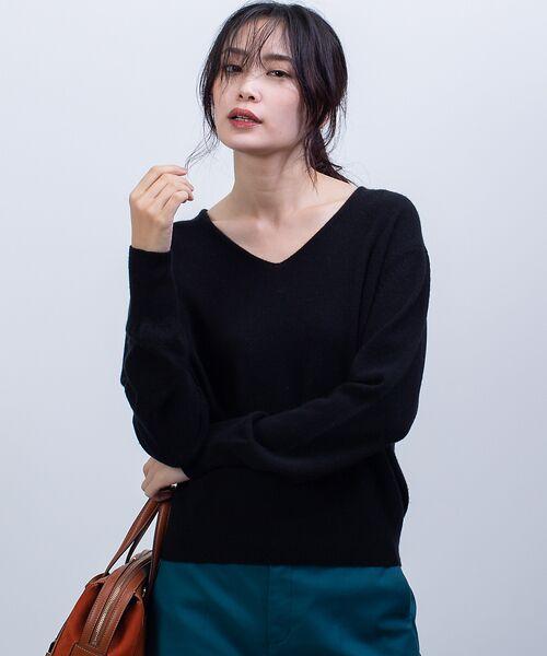 qualite / カリテ ニット・セーター | カシミヤVネックニットプルオーバー(ブラック)