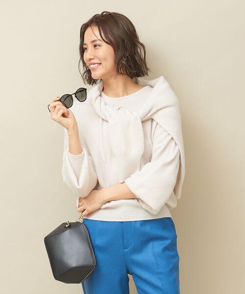 qualite / カリテ ニット・セーター   カシミヤクルーネックニットプルオーバー(アイボリー)