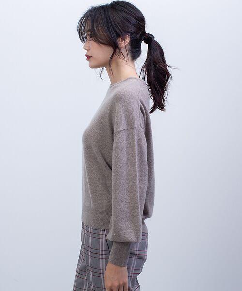 qualite / カリテ ニット・セーター   カシミヤクルーネックニットプルオーバー   詳細9