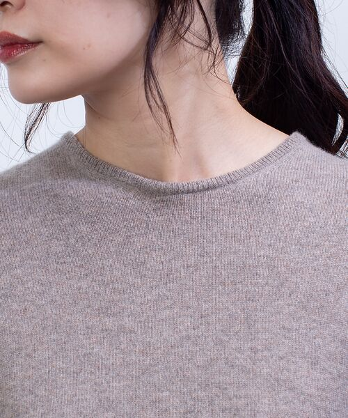 qualite / カリテ ニット・セーター   カシミヤクルーネックニットプルオーバー   詳細11