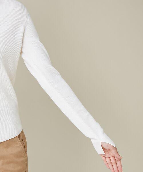 qualite / カリテ ニット・セーター | 【定番】片畔Vネックプルオーバー | 詳細5