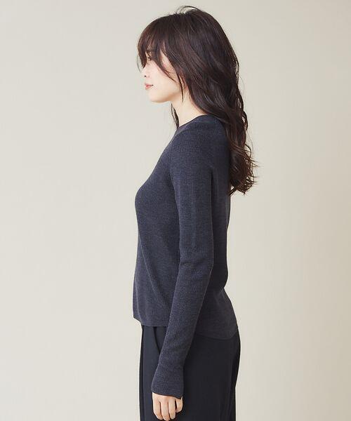 qualite / カリテ ニット・セーター | 【定番】片畔クルーネックプルオーバー | 詳細9