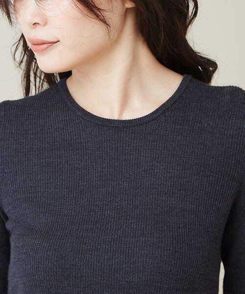 qualite / カリテ ニット・セーター | 【定番】片畔クルーネックプルオーバー | 詳細11
