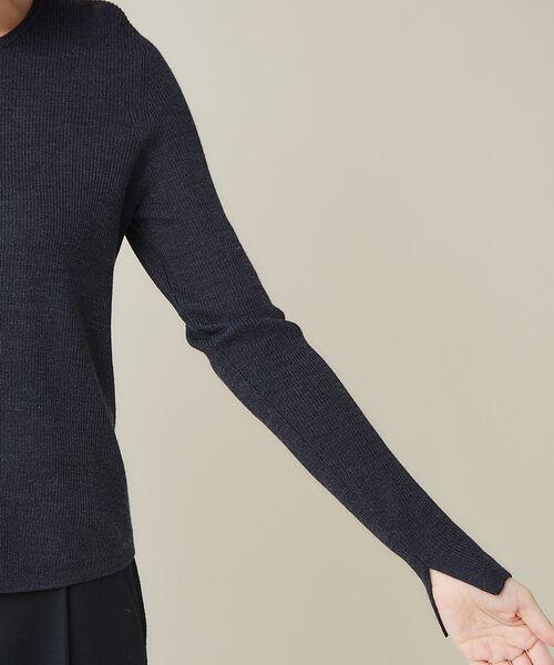 qualite / カリテ ニット・セーター | 【定番】片畔クルーネックプルオーバー | 詳細12