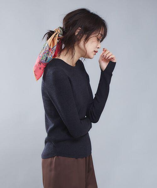 qualite / カリテ ニット・セーター | 【定番】片畔クルーネックプルオーバー(チャコールグレー)