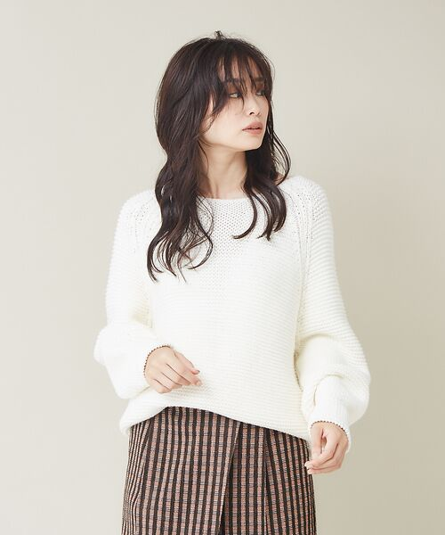 qualite / カリテ ニット・セーター | バルキーコットンニットプルオーバー(オフホワイト)