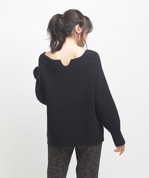 qualite / カリテ ニット・セーター | バルキーコットンニットプルオーバー(ブラック)