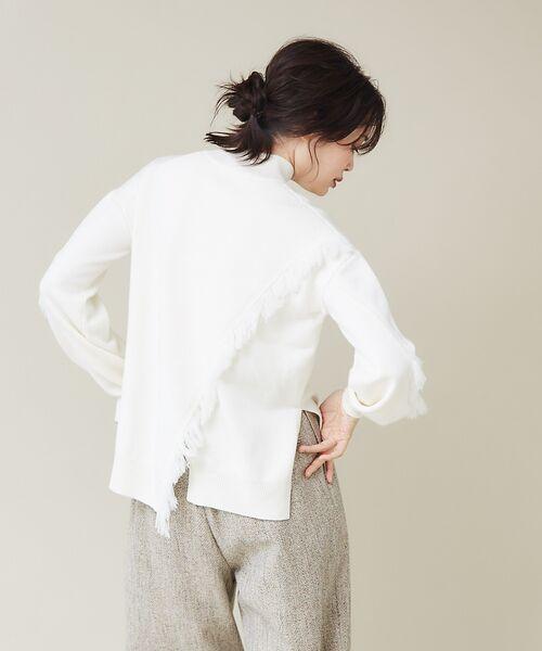 qualite / カリテ ニット・セーター | フリンジスリーブニットプルオーバー | 詳細11