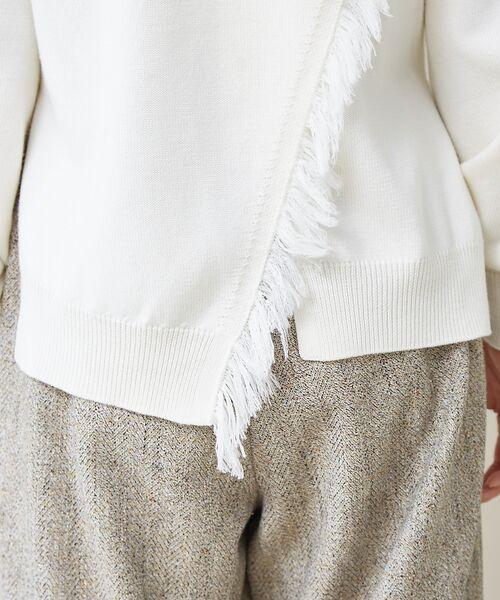qualite / カリテ ニット・セーター | フリンジスリーブニットプルオーバー | 詳細3