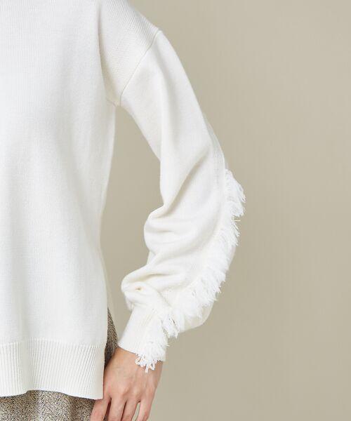 qualite / カリテ ニット・セーター | フリンジスリーブニットプルオーバー | 詳細5