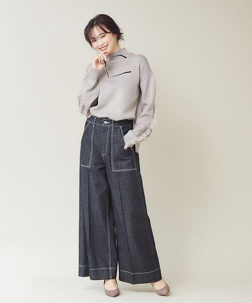 qualite / カリテ ニット・セーター | フリンジスリーブニットプルオーバー | 詳細13