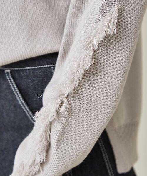 qualite / カリテ ニット・セーター | フリンジスリーブニットプルオーバー | 詳細15