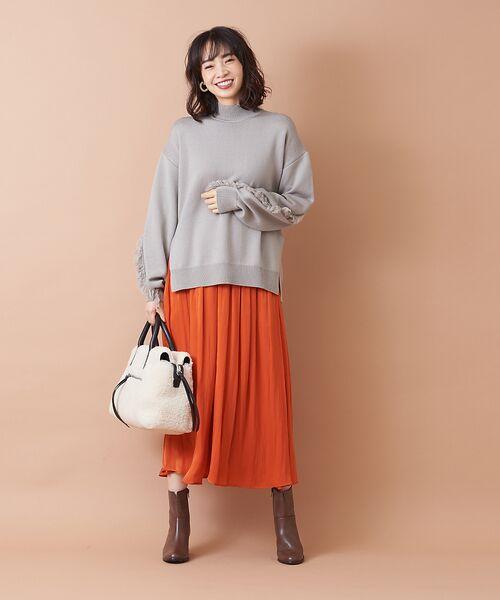 qualite / カリテ ニット・セーター | フリンジスリーブニットプルオーバー | 詳細16