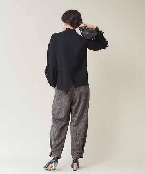 qualite / カリテ ニット・セーター | フリンジスリーブニットプルオーバー | 詳細20