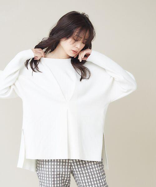 qualite / カリテ ニット・セーター | フロントタックニットプルオーバー【予約】 | 詳細1