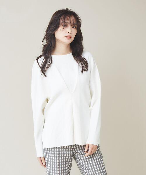 qualite / カリテ ニット・セーター | フロントタックニットプルオーバー【予約】(オフホワイト)
