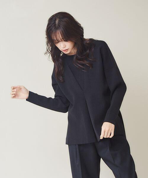 qualite / カリテ ニット・セーター | フロントタックニットプルオーバー【予約】 | 詳細15