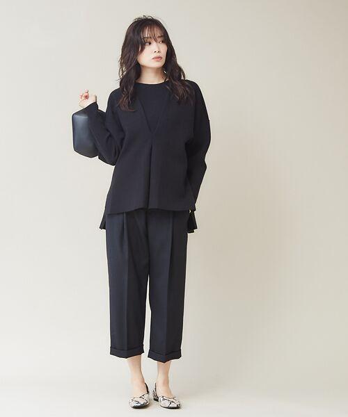 qualite / カリテ ニット・セーター | フロントタックニットプルオーバー【予約】 | 詳細16