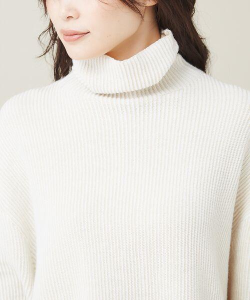 qualite / カリテ ニット・セーター | ストライプジャガードニットプルオーバー | 詳細4