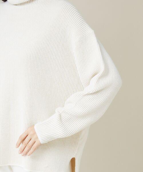 qualite / カリテ ニット・セーター | ストライプジャガードニットプルオーバー | 詳細5