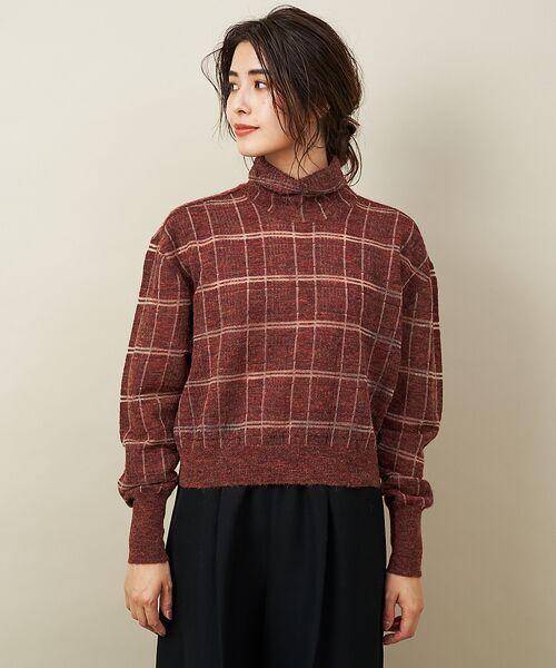qualite / カリテ ニット・セーター | チェックモヘアニットプルオーバー | 詳細5